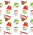 Christmas characters seamless pattern vector image vector image
