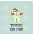 Christmas retro elements and vector image vector image
