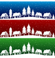 Christmas village with snow seamless pattern vector image vector image