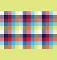 colored check pixel tablecloth seamless pattern vector image vector image