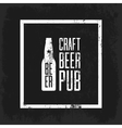 Craft beer pub logo concept isolated vector image vector image