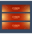 Cyber Monday Sale banner design Graphic abstract vector image vector image