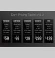 Dark pricing tables - black and silver design