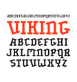 decorative serif font in historical style vector image vector image