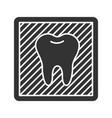 dental x-ray glyph icon