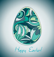 Easter egg greeting card with abstract hand drawn vector image