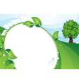 Eco concept background vector image vector image