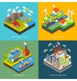 Environment Pollution and Protection vector image vector image