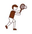 ethlete practicing tennis avatar vector image