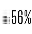 fifty six percent people chart graphic 56 vector image
