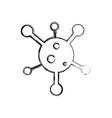 figure web digital virus computer technology vector image