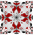 floral ornamental red black white seamless vector image vector image