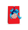 gift card with ball of pearls and bow vector image