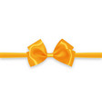golden bow and gold ribbon vector image vector image