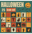 Halloween icon set Holiday design vector image