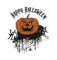 halloween party hand drawn of pumpkin isolated vector image vector image