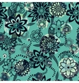 Hand drawn floral seamlees pattern vector image vector image