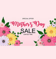 happy mothers day cute sale background vector image vector image
