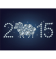 Happy new year 2015 creative greeting card with sh vector image