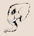 head of elephant vector image vector image