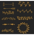 High quality original set of vintage elements for vector image vector image