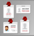 identification badge set id card blank vector image