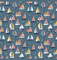 kids pattern with sailing ships vector image vector image