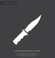 knife premium icon white on dark background vector image vector image