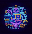 laundry room neon concept vector image vector image