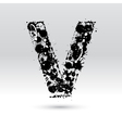 Letter V formed by inkblots vector image vector image