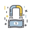 Magnet for money icon vector image