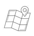map locator line icon vector image vector image