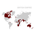 map of the british empire vector image