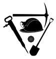 Miner tool vector image vector image
