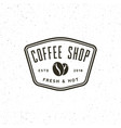 Modern vintage coffee shop label