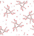momo peach flower seamless on white background vector image vector image