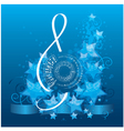 music background with decorative treble clef vector image vector image