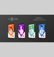 online octor on the smartphone screen vector image vector image