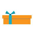 orange gift box icon vector image vector image