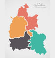 oxfordshire england map with states and modern vector image vector image