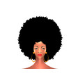 portrait african american woman afro hair style vector image vector image