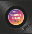 poster-flyer-summer-beach-party-vinyl-style vector image vector image