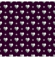 Purple silver seamless valentine background vector image vector image