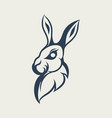 rabbit logo design icon vector image vector image