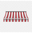 red and white awning mockup realistic style vector image vector image
