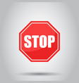 red stop sign icon danger symbol vector image vector image