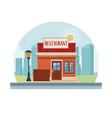 restaurant shop store vector image vector image