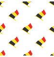 seamless pattern with flags belgium vector image vector image