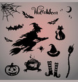 set halloween vector image vector image