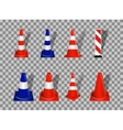 Set of Road signs Orange and Blue Badge vector image vector image